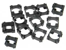 Pack of 12 - 18650 Battery Cell Safety Spacer