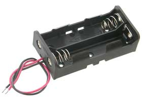 Series Battery Holder for Two 18650 Lithium Batteries