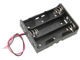 Series Battery Holder for Three 18650 Lithium Batteries