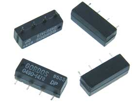Pack of 4 - 12VDC PC Reed Relay SPST-NO .