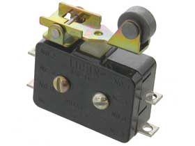 DPST-NC Snap Switch with Roller Actuator