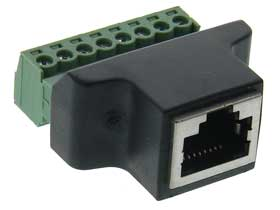 RJ45 8P8C Network Port Jack to Screw Terminal Block
