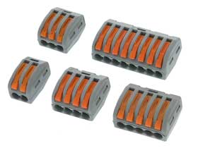 Pack of 5 - 2,3,4,5 & 8 Position Lever Action Wire Splice