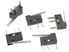 Pack of 5 - SPDT Mini Lever Limit Switch
