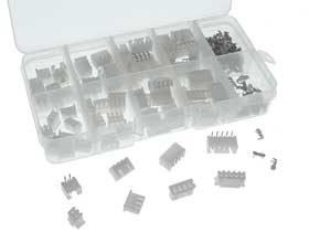40 Pairs - JST XH 2.54mm Pitch Rt. Ang. Connector Kit-2,3,4,5 Pin