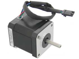 Stepmotor, 1.8 deg. NEMA 17, 4 Lead - Single Shaft - 2.1A