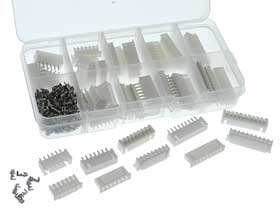 25 Pair - JST-XH 2.54mm Pitch Straight Connector Kit 6, 7, 8, 9 & 10 Pin