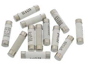 Pack of 12 - 1 each  1-32Amp 10 x 38mm RO15 Ceramic Fuse