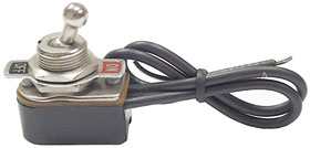 SPST On-Off Toggle Switch, 6A
