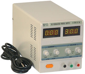0-30V, 0-3A Variable Benchtop Power Supply